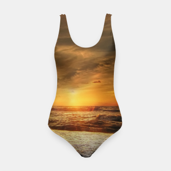 Thumbnail image of Beautiful California summer beach at sunset time Swimsuit, Live Heroes