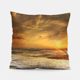 Thumbnail image of Beautiful California summer beach at sunset time Pillow, Live Heroes