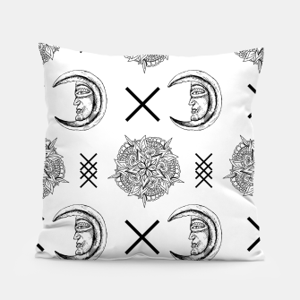 Miniaturka Boho in Black and White Pillow, Live Heroes