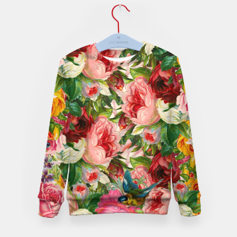 Miniaturka Colorful Floral - Je t'aime encore Kid's Sweater, Live Heroes