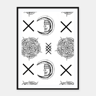 Miniaturka Boho in Black and White Framed poster, Live Heroes