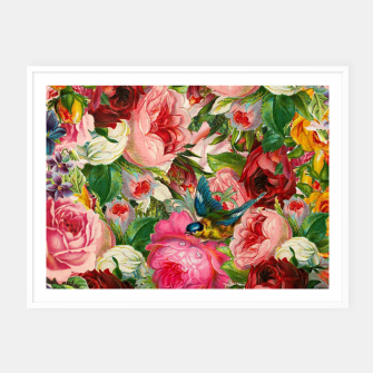 Miniaturka Colorful Floral - Je t'aime encore Framed poster, Live Heroes