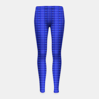 Thumbnail image of Blue Swags Girl's Leggings, Live Heroes