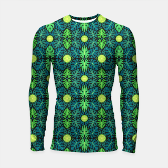 Monstera leaves floral pattern Longsleeve Rashguard  thumbnail image