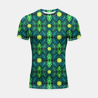 Thumbnail image of Monstera leaves floral pattern Shortsleeve Rashguard, Live Heroes