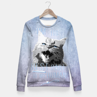 Thumbnail image of The Best Part Taillierte Sweatshirt, Live Heroes