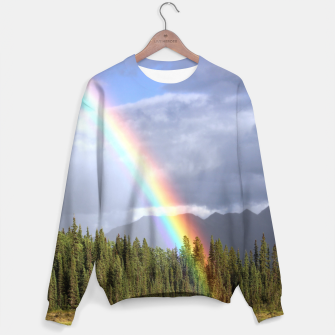Thumbnail image of Gorgeous rainbow at beautiful cloudy summer day Sweater, Live Heroes