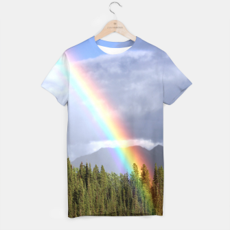 Thumbnail image of Gorgeous rainbow at beautiful cloudy summer day T-shirt, Live Heroes