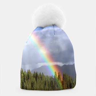 Thumbnail image of Gorgeous rainbow at beautiful cloudy summer day Beanie, Live Heroes