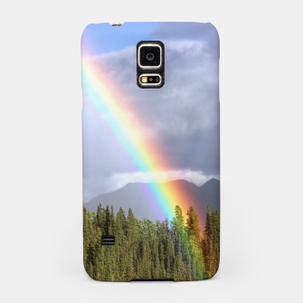 Thumbnail image of Gorgeous rainbow at beautiful cloudy summer day Samsung Case, Live Heroes