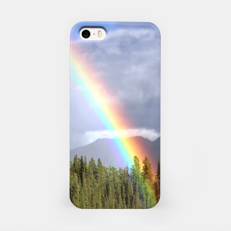 Thumbnail image of Gorgeous rainbow at beautiful cloudy summer day iPhone Case, Live Heroes