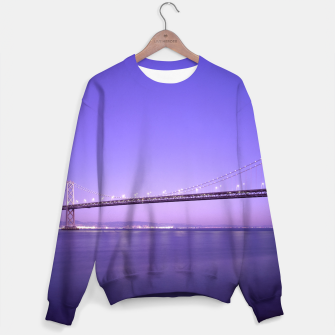 Thumbnail image of Magnificent San Francisco–Oakland Bay Bridge California at spectacular sunset Sweater, Live Heroes