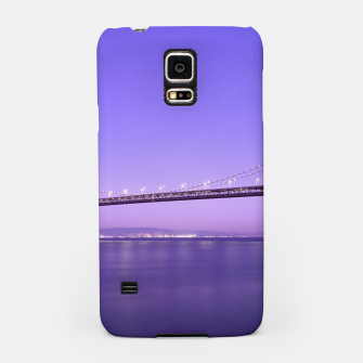Thumbnail image of Magnificent San Francisco–Oakland Bay Bridge California at spectacular sunset Samsung Case, Live Heroes
