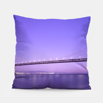 Thumbnail image of Magnificent San Francisco–Oakland Bay Bridge California at spectacular sunset Pillow, Live Heroes