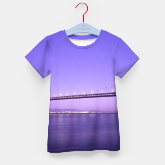 Thumbnail image of Magnificent San Francisco–Oakland Bay Bridge California at spectacular sunset Kid's T-shirt, Live Heroes