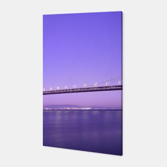 Thumbnail image of Magnificent San Francisco–Oakland Bay Bridge California at spectacular sunset Canvas, Live Heroes