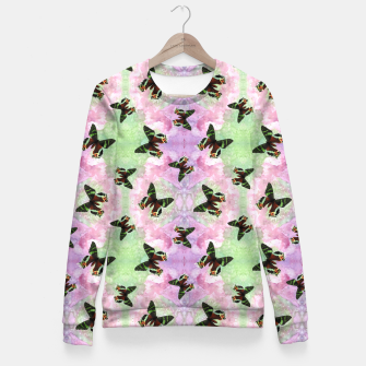 Miniaturka Urania ripheus butterfly watercolor pattern Fitted Waist Sweater, Live Heroes