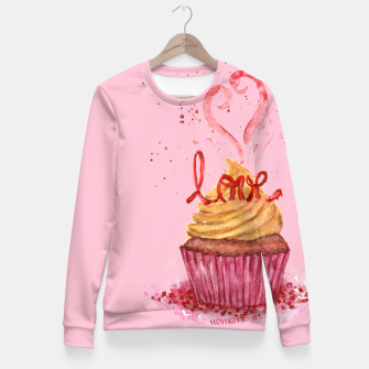 Thumbnail image of Cupcake_LOVE Fitted Waist Sweater, Live Heroes