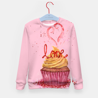 Thumbnail image of Cupcake_LOVE Kid's Sweater, Live Heroes