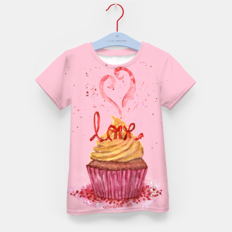 Thumbnail image of Cupcake_LOVE Kid's T-shirt, Live Heroes
