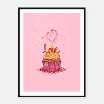 Thumbnail image of Cupcake_LOVE Framed poster, Live Heroes