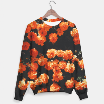 Thumbnail image of Beautiful orange color summer flowers Sweater, Live Heroes