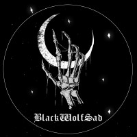 Black Wolf Sad logo