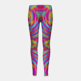 Thumbnail image of Bright Swirls Girl's Leggings, Live Heroes