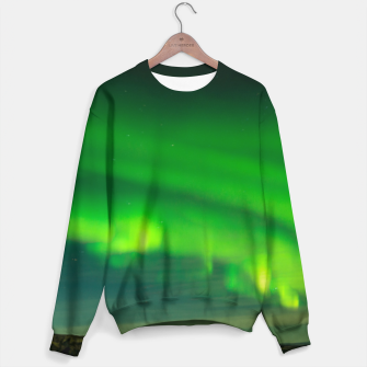 Thumbnail image of Beautiful Green Iceland northern lights Sweater, Live Heroes
