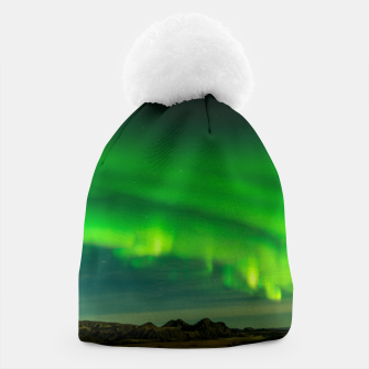 Thumbnail image of Beautiful Green Iceland northern lights Beanie, Live Heroes