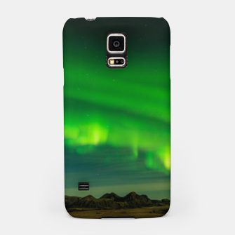 Thumbnail image of Beautiful Green Iceland northern lights Samsung Case, Live Heroes