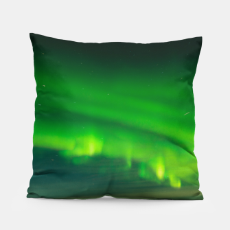 Thumbnail image of Beautiful Green Iceland northern lights Pillow, Live Heroes