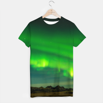 Thumbnail image of Beautiful Green Iceland northern lights T-shirt, Live Heroes
