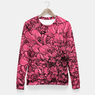 Thumbnail image of Pink Flower Fitted Waist Sweater, Live Heroes