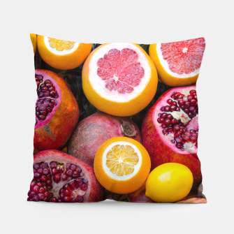 Thumbnail image of Colorful tropical healthy fruits Pillow, Live Heroes