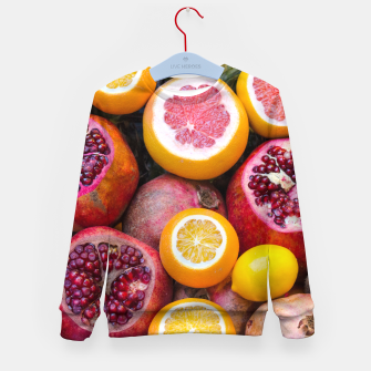 Thumbnail image of Colorful tropical healthy fruits Kid's Sweater, Live Heroes