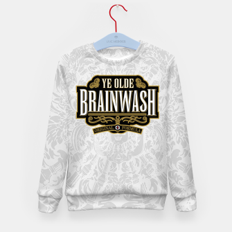 Thumbnail image of Ye Olde BRAINWASH Kid's Sweater, Live Heroes