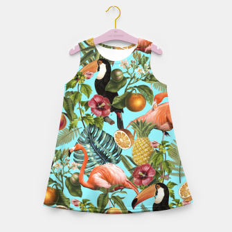 The Tropics v2 Girl's Summer Dress Bild der Miniatur