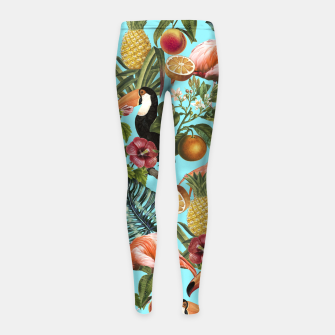 The Tropics v2 Girl's Leggings Bild der Miniatur