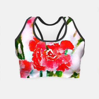 Thumbnail image of Red Blossom V2 Crop Top, Live Heroes