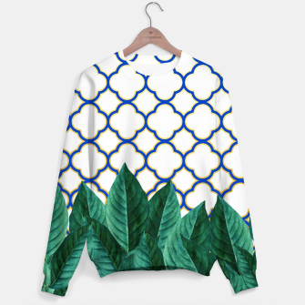 Thumbnail image of Leaves and Tiles Sweater, Live Heroes