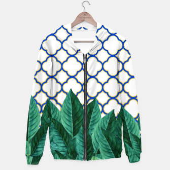 Thumbnail image of Leaves and Tiles Hoodie, Live Heroes