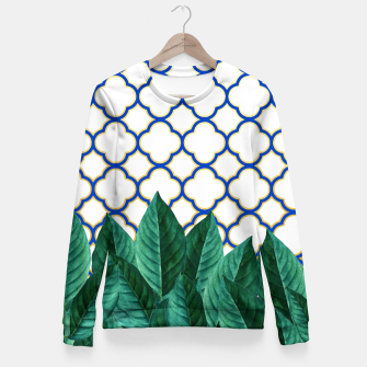 Thumbnail image of Leaves and Tiles Fitted Waist Sweater, Live Heroes