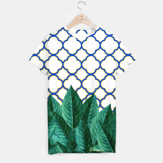 Thumbnail image of Leaves and Tiles T-shirt, Live Heroes