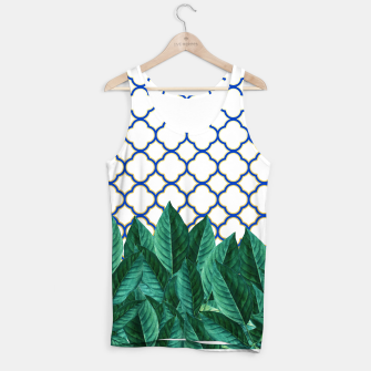 Thumbnail image of Leaves and Tiles Tank Top, Live Heroes