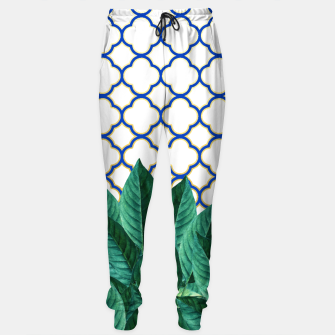Thumbnail image of Leaves and Tiles Sweatpants, Live Heroes