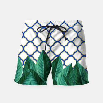 Thumbnail image of Leaves and Tiles Swim Shorts, Live Heroes