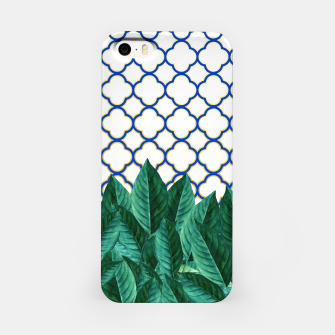 Thumbnail image of Leaves and Tiles iPhone Case, Live Heroes