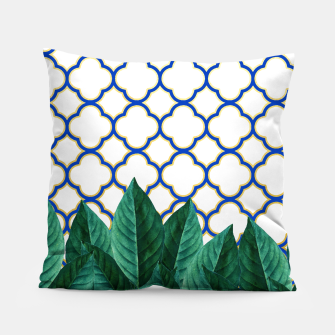 Thumbnail image of Leaves and Tiles Pillow, Live Heroes