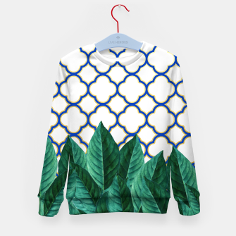 Thumbnail image of Leaves and Tiles Kid's Sweater, Live Heroes